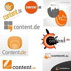 content.de Logo Entwürfe