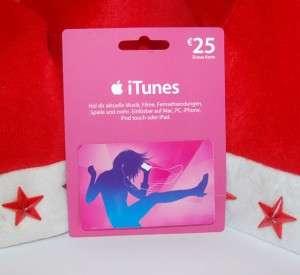 iTunes Gutschein 25 EUR