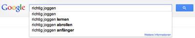 Der Google-Suggest ist ein wertvolles Instrument bei der Themenrecherche!