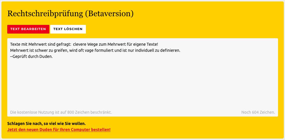 Rechtschreibung und Interpunktion Online überprüfen - https://www.duden.de/rechtschreibpruefung-online