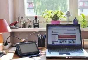 Arbeitsplatz von Autor Christian Schreiber von content.de