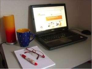 Arbeitsplatz-Autorin-Clematis