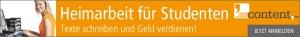 Heimarbeit für Studenten als Texter bei content.de