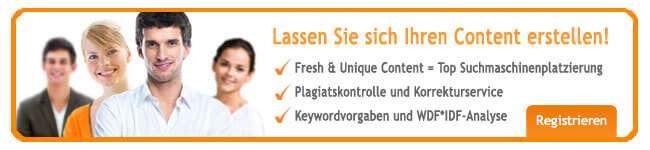 Unique Content kaufen bei content.de