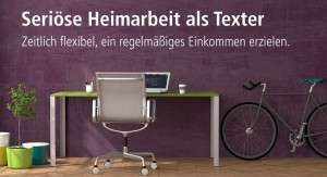 Heimarbeit ohne Vorkosten als Texter bei content.de
