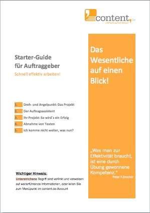 Starter-Guide zum Kauf von Content kostenfrei herunterladen