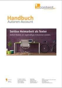 Heimarbeit als Texter über content.de wahrnehmen.