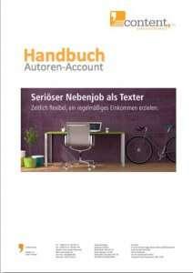 Nebenjob als Texter: Handbuch zum Texter-Account von content.de