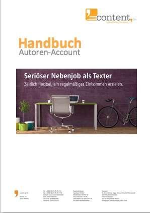 Handbuch zum content.de-Account für Texter