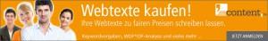 Webtexte kaufen bei content.de