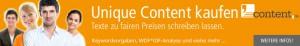 Unique Content kaufen - individuell erstellte Webtexte von content.de