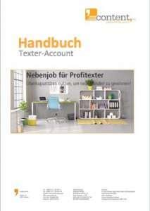 Handbuch Texter-Account von content.de