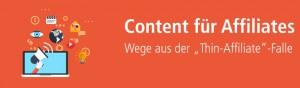 Mit Unique Content Thin-Affiliate-Webseiten entgegenwirken.