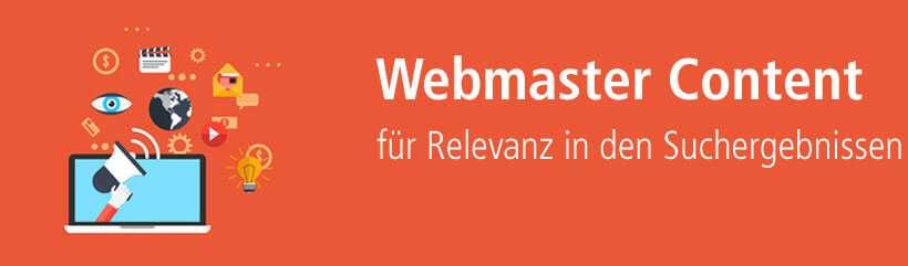 Webmaster Content für Relevanz im Web