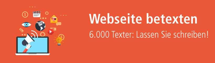 Webseite schreiben lassen von kompetenten Textern!
