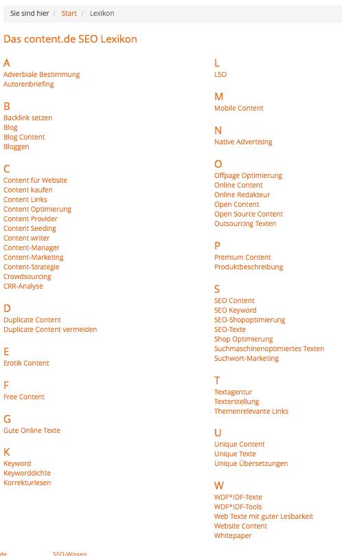 Beispiel Online-Lexikon-content.de