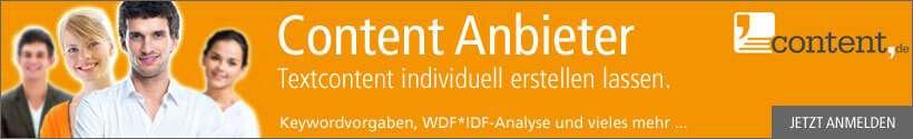 Content Anbieter für individuelle erstellten Textcontent