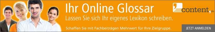 Ihr eigenes Glossar erstellt durch content.de