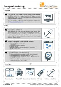 Einseitiges PDF zur Onpage-Optimierung von der content.de AG