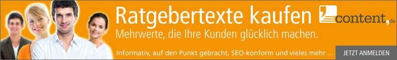 Ratgebertexte schreiben lassen über content.de