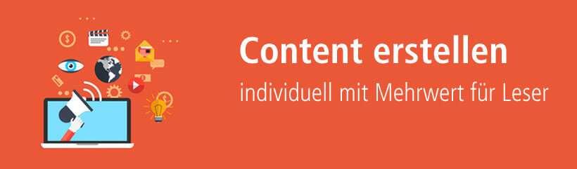 Content erstellen lassen über die Plattform content.de