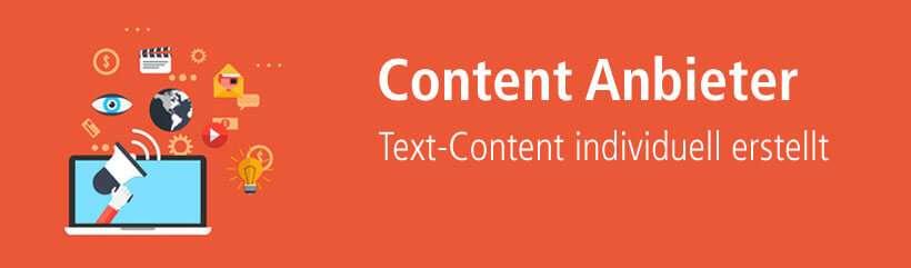 Content Anbieter für individuell erstellten Text-Content