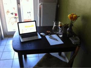 Arbeitsplatz-Texterin-Rotes-Meer