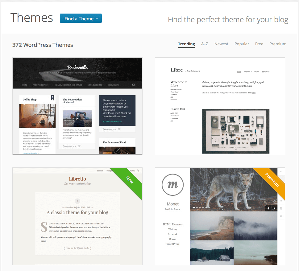 Themes von Wordpress