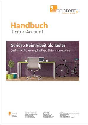 Handbuch für Autoren auf content.de