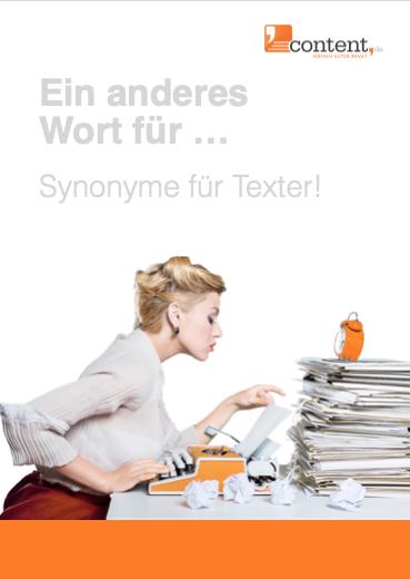 Ein anderes Wort für ... finden! PDF-Dokument zu kostenlosen Download!