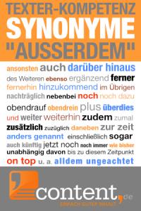 Ein anderes Wort für ausserdem - content.de