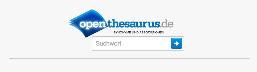 Synonyme über Open Thesaurus finden