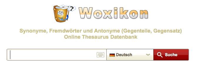 Synonyme über Woxikon finden