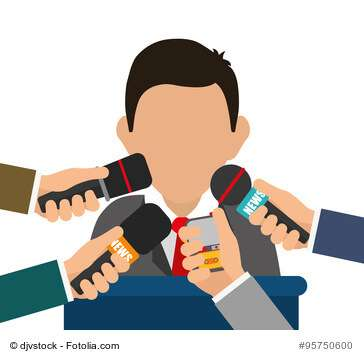 News media and broadcasting design, vector illustration graphic