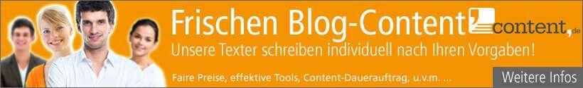 Blog Content schreiben lassen