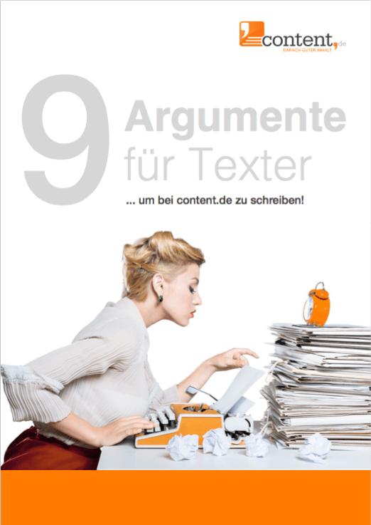 Darum als Texter über content.de Texte verfassen.
