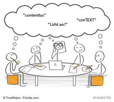 Brainstorming zum content.de-Kundenmagazin
