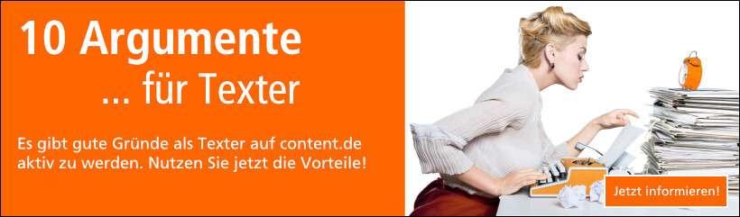 Jetzt Texter werden auf content.de