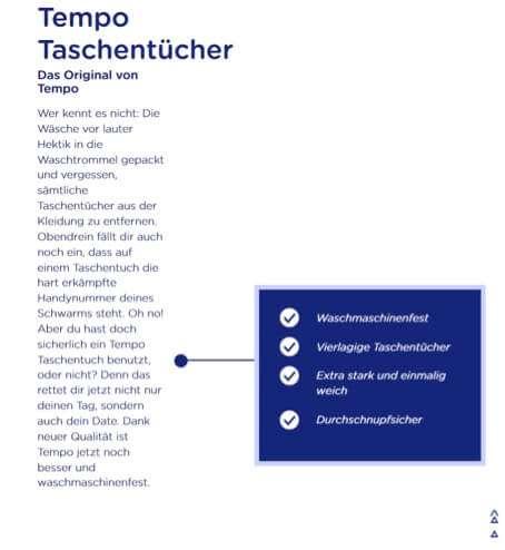 Copywriting Beispiele - tempo-world.de