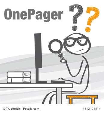 OnePager: Eine Seite, ein Konzept und eine klare Linie!