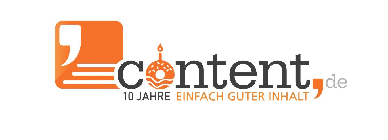 10 Jahre content.de - 1 Dekade Texten im Web!