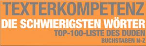 Schwierige Wörter: Die Top 100 Liste