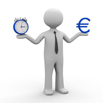 3d Männchen Zeit ist Geld (Euro) © fotomek - Fotolia.com